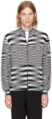 Missoni Black and White Zip-Up Sweater