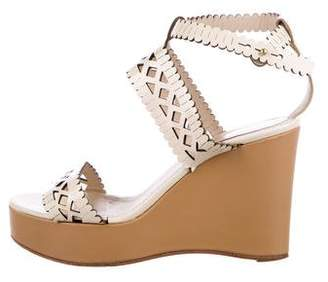 Chloé Laser-Cut Wedge Sandals