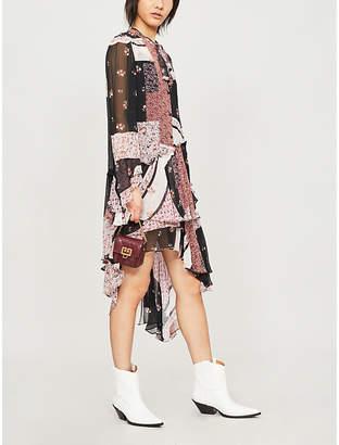 The Kooples Floral-print silk-blend dress