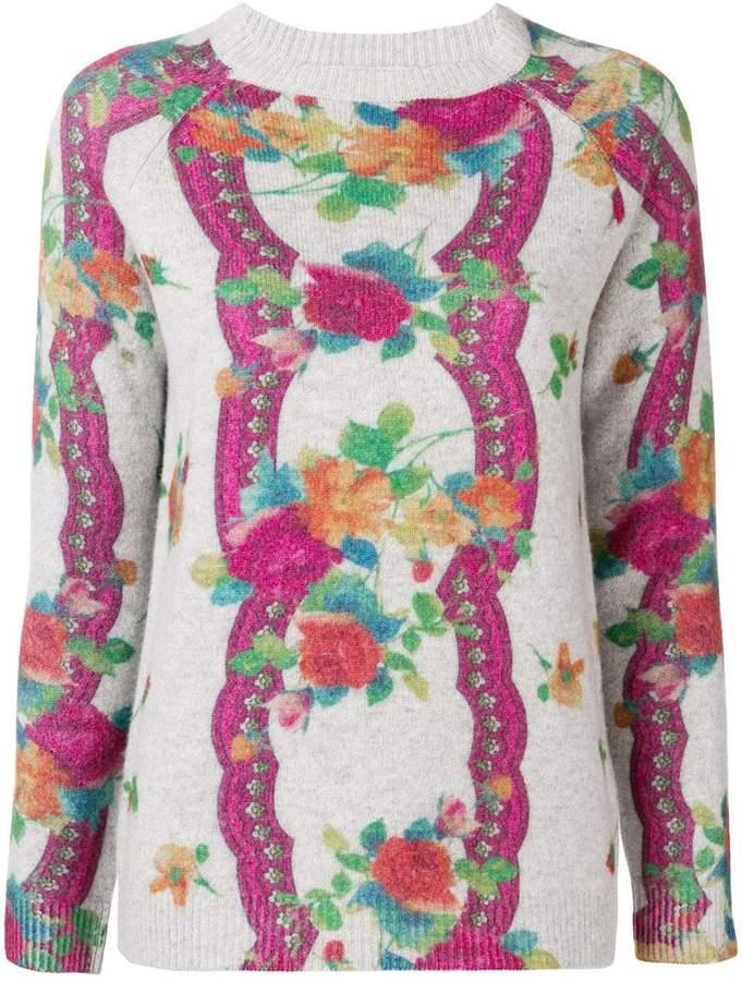 floral pattern jumper