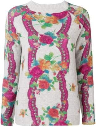 Blumarine floral pattern jumper