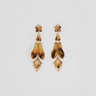 Burberry Resin and Gold-plated Drop Earrings