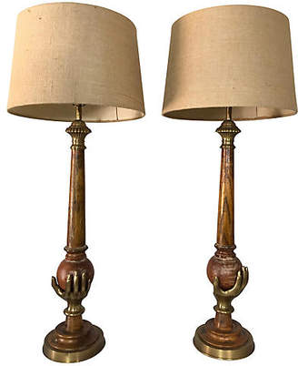 One Kings Lane Vintage Chapman Brass Lamps - Set of 2 - Von Meyer Ltd.