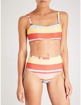 Asceno Striped bandeau bikini top