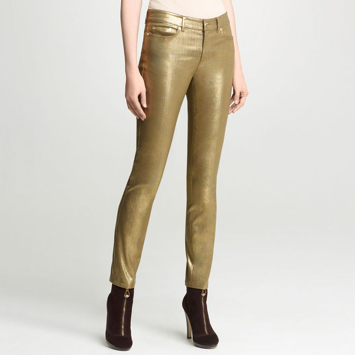 Anne Klein Foiled 5-Pocket Jean