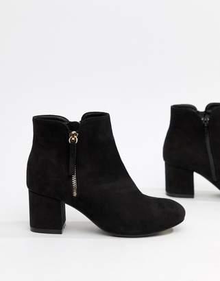 Office Side Zip Kitten heel Boots