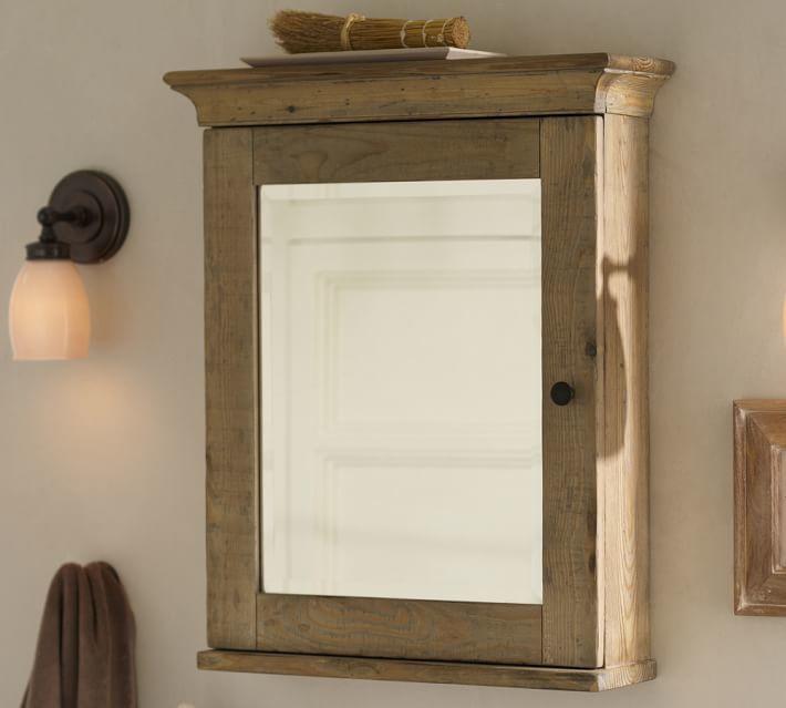 Pottery Barn Mason Reclaimed Wood Wall-Mounted Medicine Cabinet - Wax Pine finish