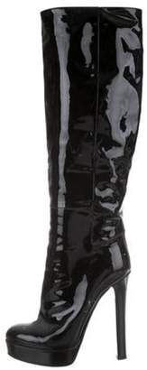 Gucci Patent Leather Knee-High Boots Black Patent Leather Knee-High Boots