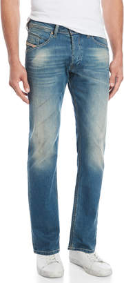 Diesel Distressed Belther Regular-Slim Tapered Jeans