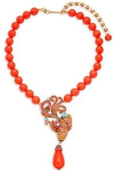 Heidi Daus Multicolored Crystal Koi Fish Pendant Necklace