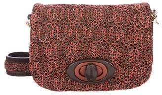 Missoni Crocheted Suede Shoulder Bag