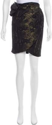 Giambattista Valli Sash-Accented Silk Skirt