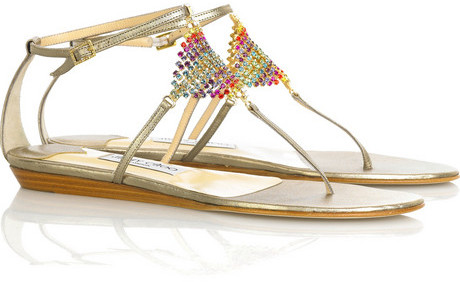 Jimmy Choo Plush embellished sandals