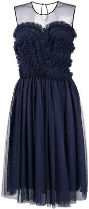 P.A.R.O.S.H. ruffled flared dress