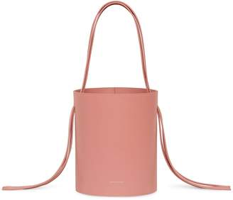 Mansur Gavriel Calf Fringe Bucket Bag - Blush