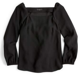 J.Crew Square Neck Long Sleeve Top