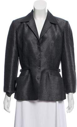 Thierry Mugler Structured Metallic Blazer
