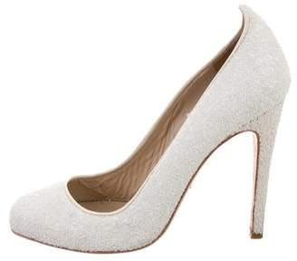 Jerome C. Rousseau Sequined Round-Toe Pumps