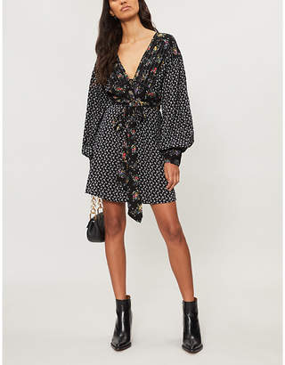 Free People Wonderland floral-pattern woven dress