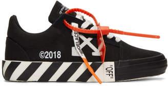 Off-White Off White Black Striped Vulcanized Sneakers