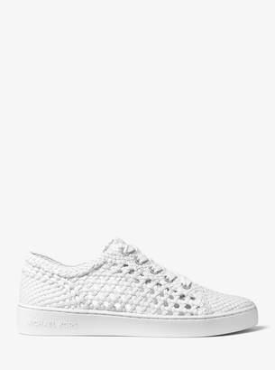 MICHAEL Michael Kors Desi Woven Leather Sneaker
