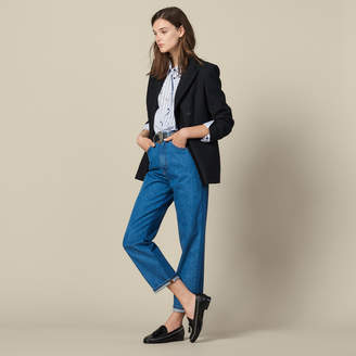 Sandro Two-Tone Mom Jeans