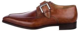 Magnanni Leather Monk Strap Shoes
