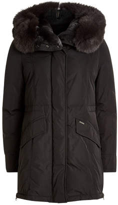 Woolrich City Down Parka with Fur-Trimmed Hood