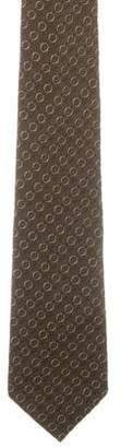 Prada Circle Patterned Tie