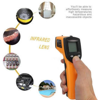Think! Non-Contact LCD IR Laser Infrared digi talTemperature Meter Thermometer