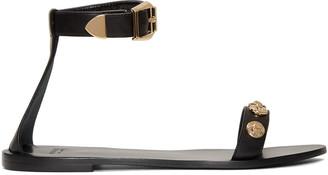Versace Black Medusa Medallions Sandals $695 thestylecure.com