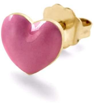 Alison Lou Pink Heart Stud