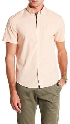 Original Penguin Short Sleeve Gingham Print Slim Fit Shirt