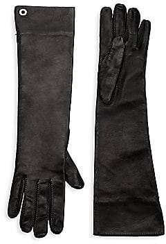Loro Piana Women's Long Leather Gloves