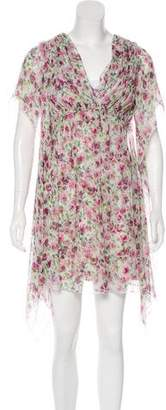 Dolce & Gabbana Silk Floral Print Dress