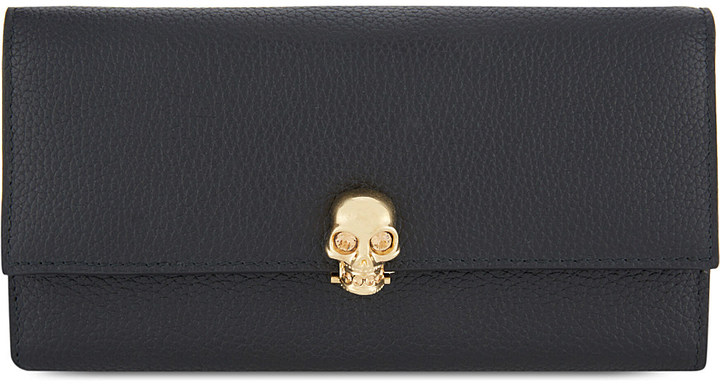 Alexander McQueenAlexander Mcqueen Leather skull wallet