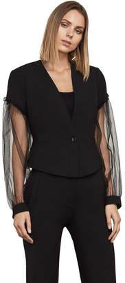 BCBGMAXAZRIA Sandi Sheer-Sleeve Jacket