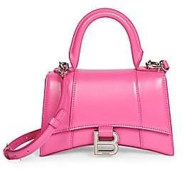 Balenciaga Women's Small Hour Leather Top Handle Bag