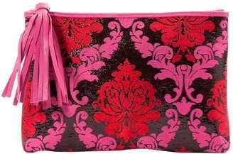 Mary Katrantzou Pink Leather Clutch Bag