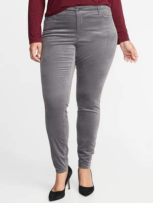 Old Navy High-Rise Secret-Slim Pockets Plus-Size Rockstar Velvet Pants
