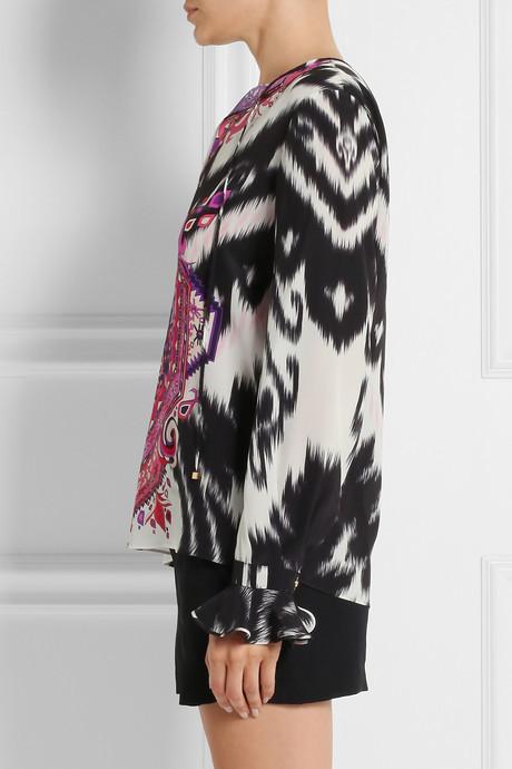 Emilio Pucci Suzani printed silk crepe de chine top