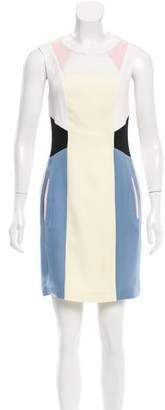 Jonathan Saunders Colorblock Silk Dress
