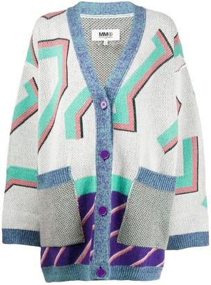 MM6 MAISON MARGIELA oversized knitted cardigan