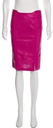 Gianni Versace Leather Knee-Length Skirt