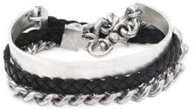 Large Curb Braided Cuff Bracelet