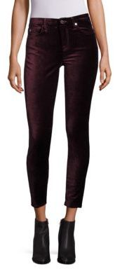 7 For All Mankind Velvet Skinny Jeans $179 thestylecure.com