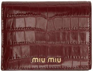 Miu Miu Red Croc French Wallet