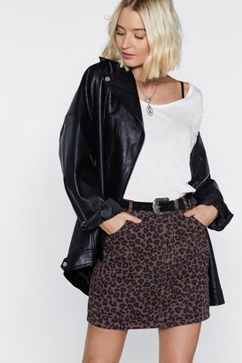 Nasty Gal Only Time Will Tail Leopard Skirt