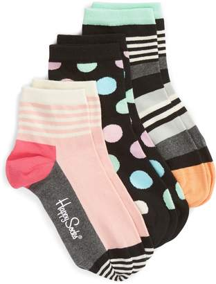 Happy Socks Stripe & Dot 3-Pack Ankle Socks