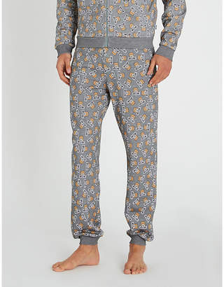 Moschino Teddy and logo-print cotton joggers